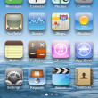 Icons on main display on iPhone 4. — Stock Photo #10276123