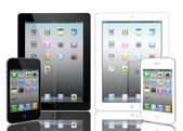 The iPad 2, the digital tablet with multi touch screen — Stock Photo