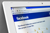 Homepage of Facebook.com — Stock Photo