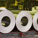 Rolls of zinc steel sheet — Stock Photo #9027398