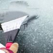 Cleaning car windows - Stock Photo