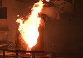 Pouring of liquid metal — Stock Photo