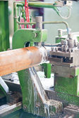 Lathe Turning Stainless Steel — Stock Photo