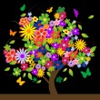 Colorful tree with flowers — Stock Photo #7972041