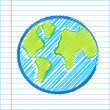 Hand drawing world map — Stock Photo #7972059