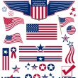 Patriotic elements - Stock Photo