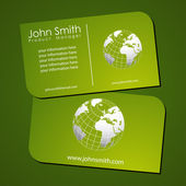 Green stylish business card templates — Stock Photo