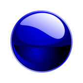 Vector dark blue sphere — Stock Photo