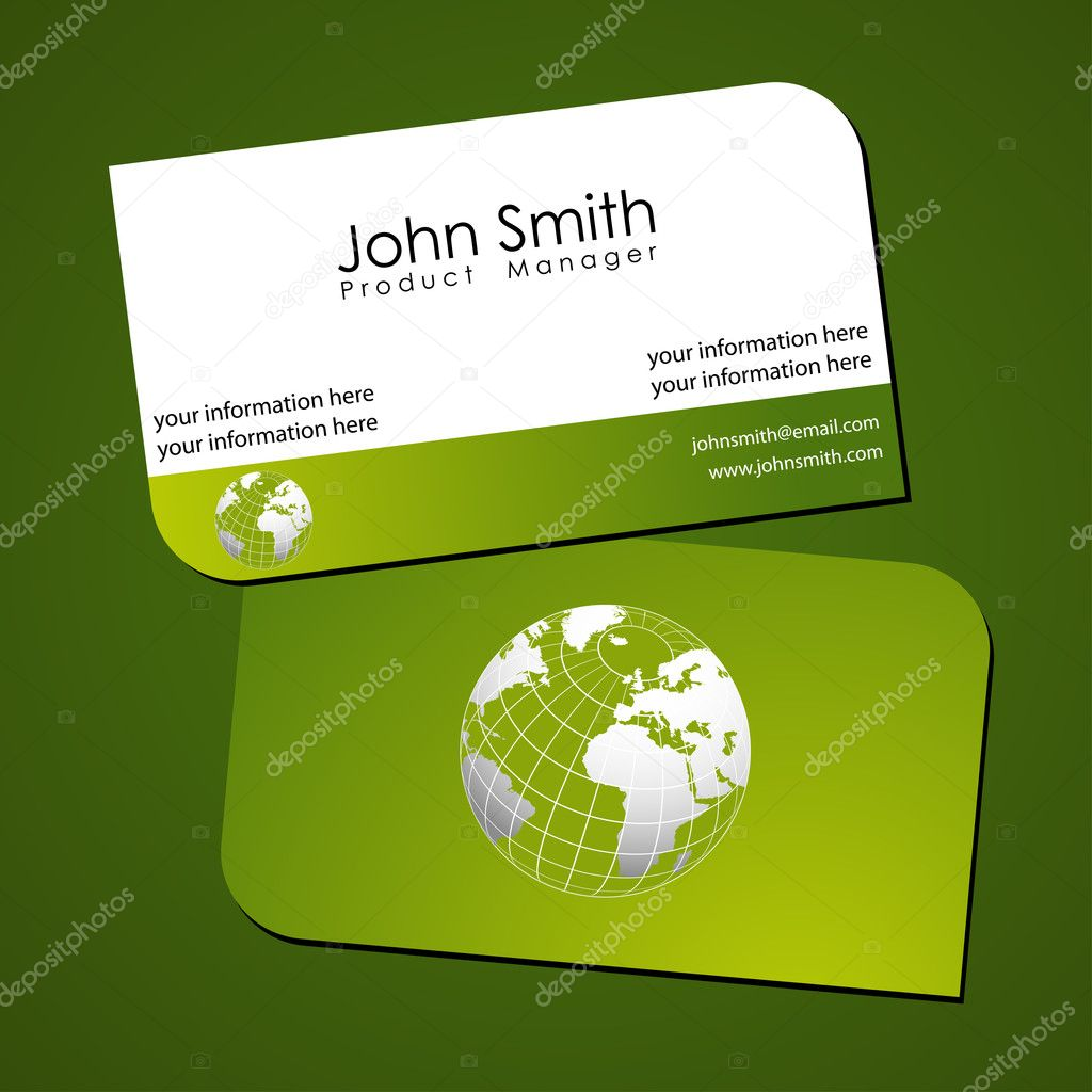 Green stylish business card templates — Stock © suti