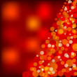 Red christmas lights — Stock Photo