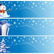 Set of three christmas banners — Stock Photo