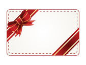 Vector gift tag — Stock Photo