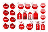 Vector sale tags — Stock Photo