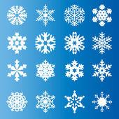 Snowflakes on blue background — Stock Photo
