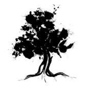 Abstract tree silhouette — Stock Photo