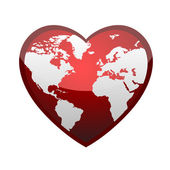 Earth in form of heart — Stock Photo