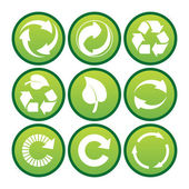 Environmental recycling icons — Stock Photo
