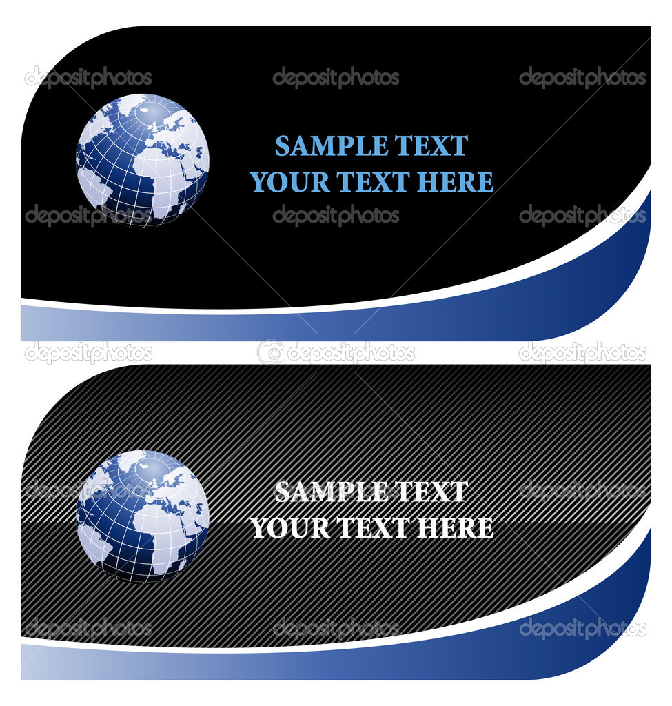 Stylish business card templates in vector format, you can easily change the text  Stock Photo #7984978