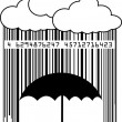 Barcode rain — Stock Photo