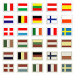 Flag stamps set , easily editable vector illustration — Stock Photo #7995822