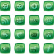 Vector illustration of glossy multimedia icon set - Stock Photo