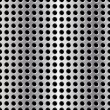 Seamless vector illustration of perforated metal plate — Stock Photo #7996187