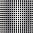 Stock Photo: Seamless vector illustration of perforated metal plate