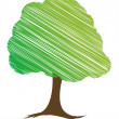 Vector tree design, easily editable vector illustration — Stock Photo #7996335