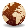 Globe of the World Europe and Africa — Stock Photo #7996433