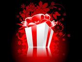 Christmas present box with reflection — Stock Photo
