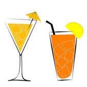 Cocktails vector illustration — Stock Photo