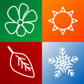 Four seasons background — Stock Photo