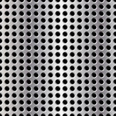 Seamless vector illustration of perforated metal plate — Stock Photo