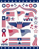American Patriotic Elements — Stock Photo
