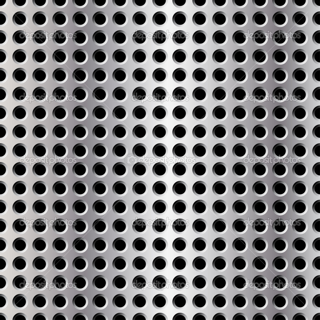 Seamless Illustration Of Perforated Metal Plate Stock