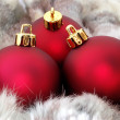 Red christmas balls — Stock Photo #8052197