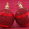 Red christmas balls — Stock Photo #8052211