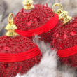 Red christmas balls — Stock Photo #8052218