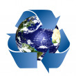 Planet Earth with Recycle Symbol — Stock Photo #8052856