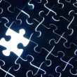 Abstract puzzle background with one missing piece — Stock Photo #8053006