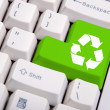Stock Photo: Recycle symbol on computer keyboard