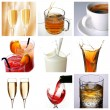 Stock Photo: Collage of drink related pictures