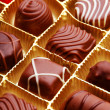 Chocolate bon bons — Stock Photo
