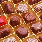 Chocolate bon bons — Stock Photo