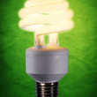 Stock Photo: Fluorescent light bulb