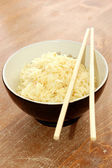 A bowl of healthy organic rice — Foto Stock