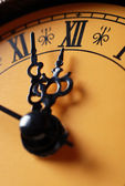 Old clock showing time about twelve — Stock Photo
