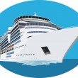 cruise ship&quot — Stock Vector