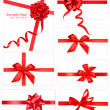 Big collection of color gift bows with ribbons  Vector — Vektorgrafik
