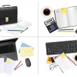 Big set of business and office supplies. Vector. — Stock Vector #10042992